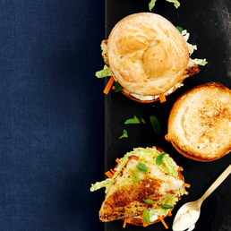 Curry-Fisch-Burger