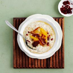 Porridge mit Honig-Orangen