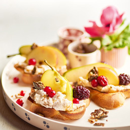Süsse Frucht-Crostini