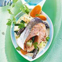 Fisch-Tranchen auf Pilz-Gemüse