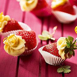 Gefüllte Mascarpone-Erdbeeren