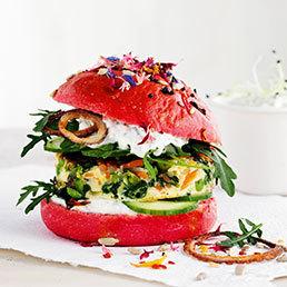 Gemüse-Omeletten-Burger