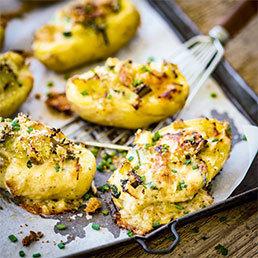 Gefüllte Kartoffeln mit Lauch