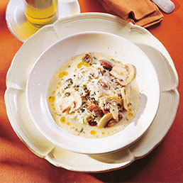 Kastanien-Risotto mit Kräutern und Pilzen