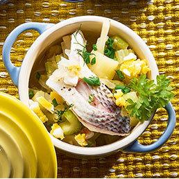 Sellerie-Zitronen-Fisch-Eintopf