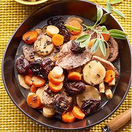 Rindfleisch-Tee-Eintopf