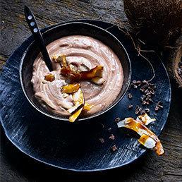 Schokoladencrème mit Kokos-Krokant