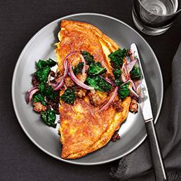 Omelette aux röstis