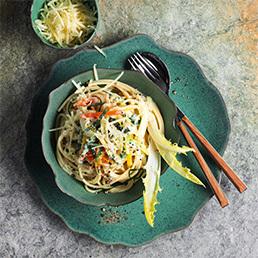 Spaghetti mit  Absinth-Gemüse-Sauce