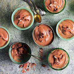 Absinth-Schokoladen-Mousse
