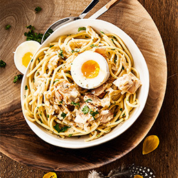 Poulet-Carbonara-Spaghetti