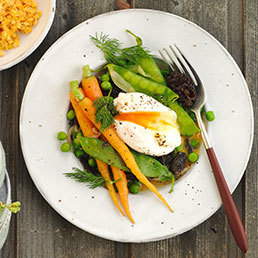 Gemüse mit Morcheln an Limetten-Butter-Sauce