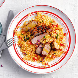 Salade de couscous et filet de porc