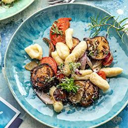Kartoffel-Gnocchi mit Auberginen