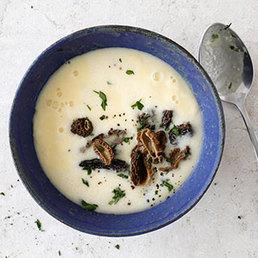 Soupe de polenta aux morilles