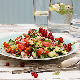 Salade concombre-tomates
