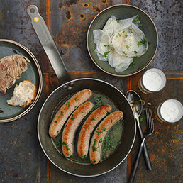 Bierwurst mit  Rettichsalat