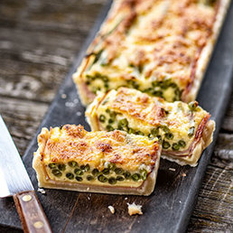 Bohnen-Käse-Tarte