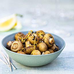 Champignons mit Zitrone und Oregano