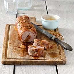 Schweinsfilet mit Walliser Rohschinken IGP und Abricotine AOP