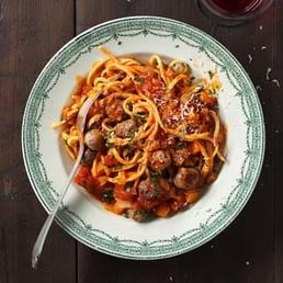 Spaghetti con le pallottine