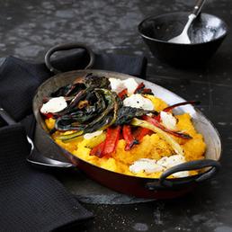 Gratin de polenta aux côtes de bette