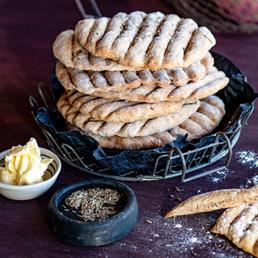 Galettes de pain  croustillant au carvi