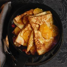 Flambierte Mandarinen-Crêpes