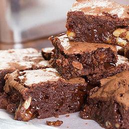 Brownies mit Caramel und Salz