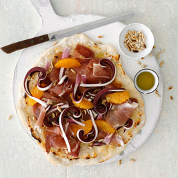 Pizza bianca mit Trevisano rosso