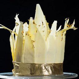 Maracuja Torte mit Blattgold