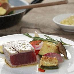 Thunfisch mit gegrilltem Gemüse