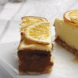 Cheesecake mit caramellisierten Orangen