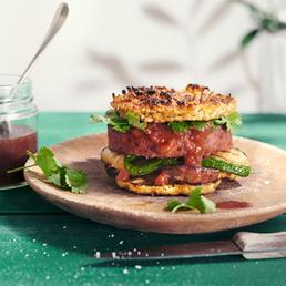 Planted Burger  mit Sushireis-Puffer