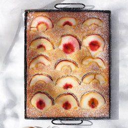 Pfirsich-Blechkuchen