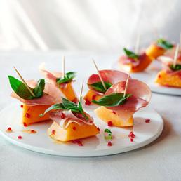 Bouchées  de melon épicées