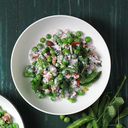 Salade de petits pois  à la menthe