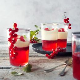 Gelée de raisinet au rosé et à la crème