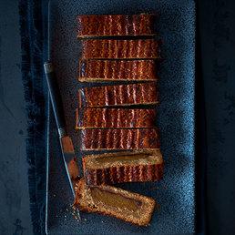 Linzerschnitte mit Honig und Mandelmasse