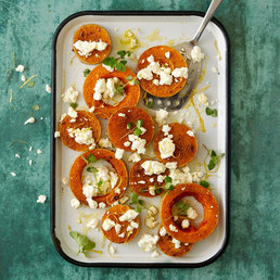 Courge Butternut  au four à la feta
