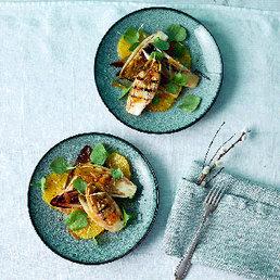 Grillierter Chicorée mit Orangen