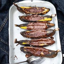 Grillierte Schoggi-Bananen