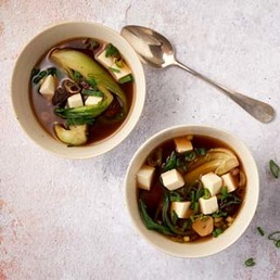 Soupe miso au tofu soyeux