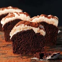 Schokolade-Cake mit Frischkäse-Topping