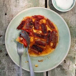 Rhabarber-Omelett