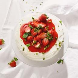 Tourte aux fraises et aux pistaches
