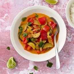 Simple curry aux courgettes et aux poivrons
