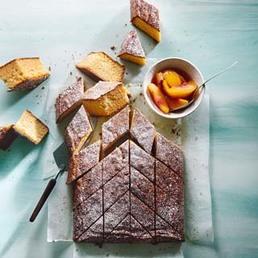 Kamillen-Dessert mit Pfirsich