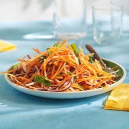 Salade de carottes à la méditerranéenne