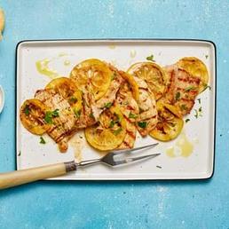 Schweinsschnitzel vom Grill al limone